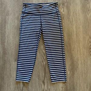Athleta XS stripe cropped leggings